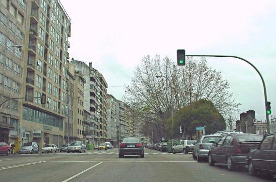 semáforo en Vigo
