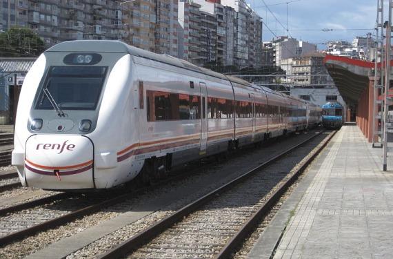Tren en Vigo